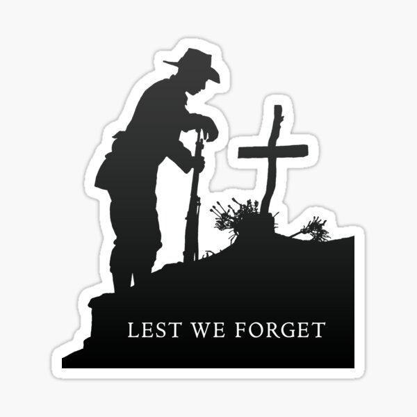 Lest we Forget - War - Grave Sticker