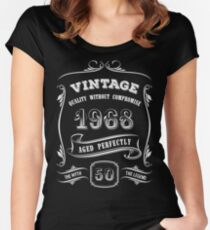 Vintage 1968 - 50th Birthday Gift Idea Women's Fitted Scoop T-Shirt