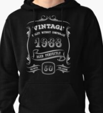 Vintage 1968 - 50th Birthday Gift Idea Pullover Hoodie