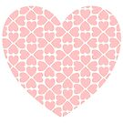 Pink Four Leaf Clover Heart by StarVia