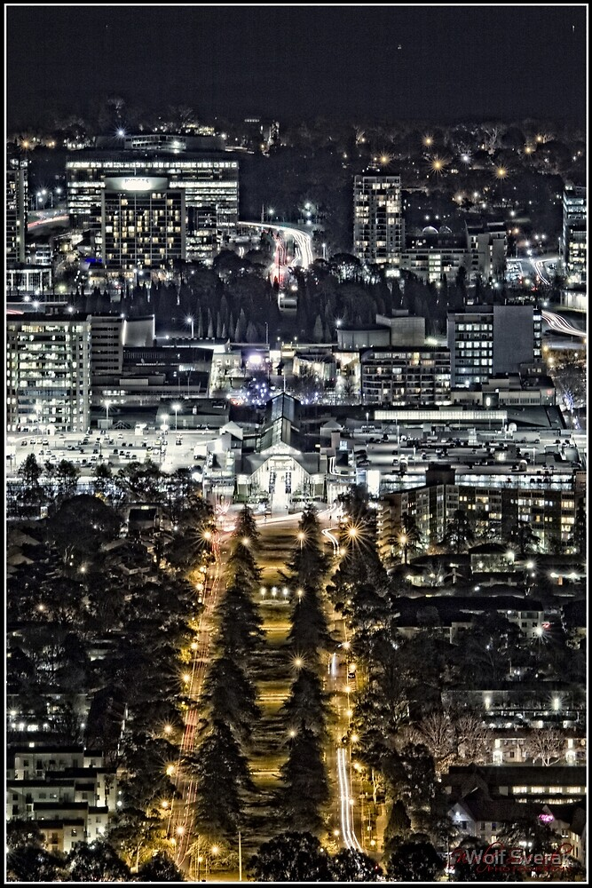 Canberra at Night - as seen from Mount Ainslie (3) by Wolf Sverak