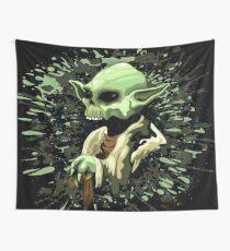 Yoda Jedi Master Skull  Wall Tapestry