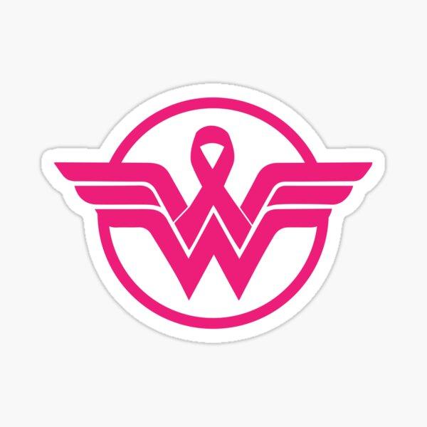 Super Hero Breast Cancer Awareness T-shirt Sticker