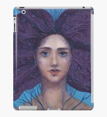 Primavera, Surreal Portrait, Fantasy Art, Blue Violet iPad Case/Skin