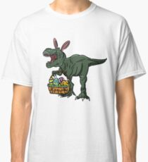 Easter t-shirt dinosaur in bunny ears. Easter egg basket / Easter T-Shirt | Happy Family Easter Tee Gift Idea. Classic T-Shirt