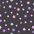 Pink, purple and blue STAR pattern. by JustTheBeginning-x (Tori)