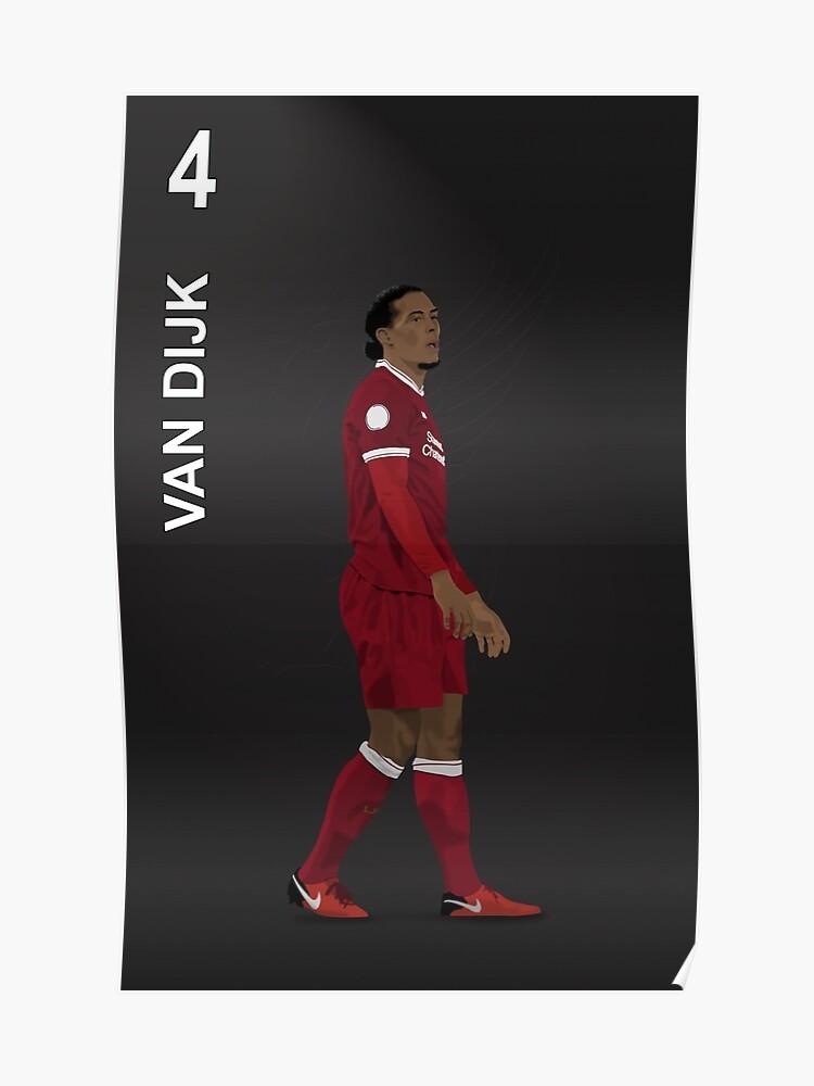 new style 5bb3f f0c90 Virgil Van Dijk 4 - Liverpool | Poster