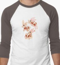 Hot Cross Bunnies Men's Baseball ¾ T-Shirt