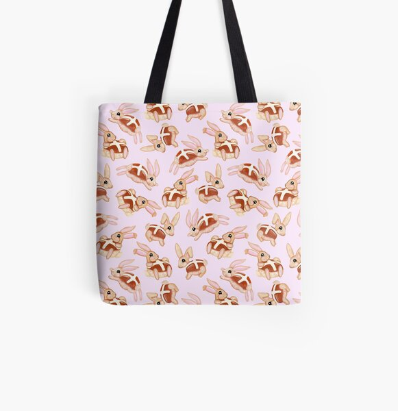 Hot Cross Bunnies All Over Print Tote Bag