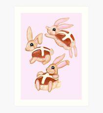 Hot Cross Bunnies Art Print
