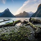 Milford Sound Sunset by Alex Stojan