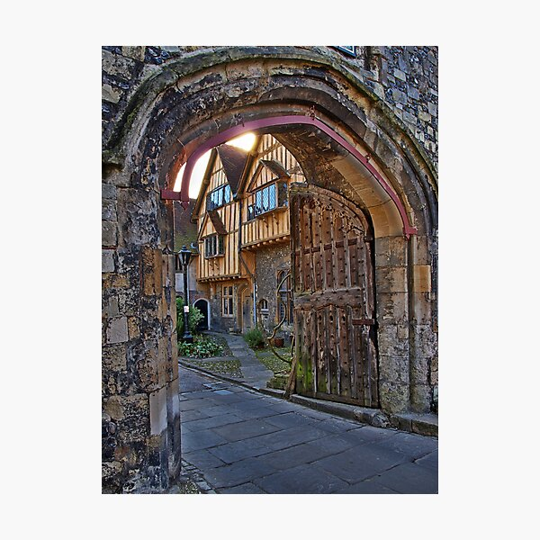 St Swithun's Gate and the Porter's Lodge - Winchester Cathedral Photographic Print