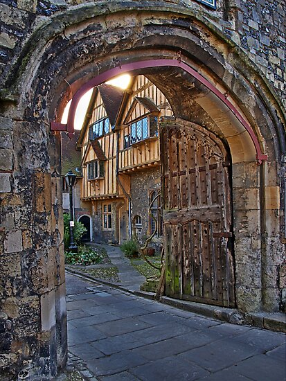 St Swithun's Gate and the Porter's Lodge - Winchester Cathedral by NeilAlderney