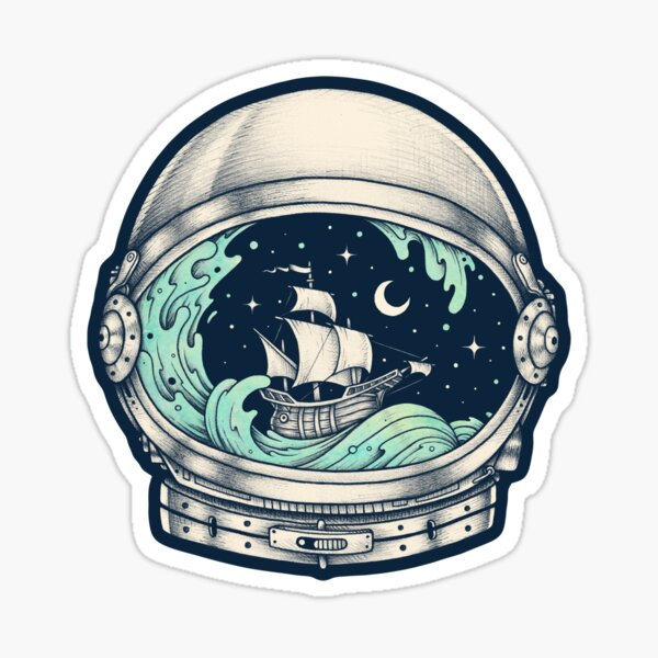 Spaceship Sticker