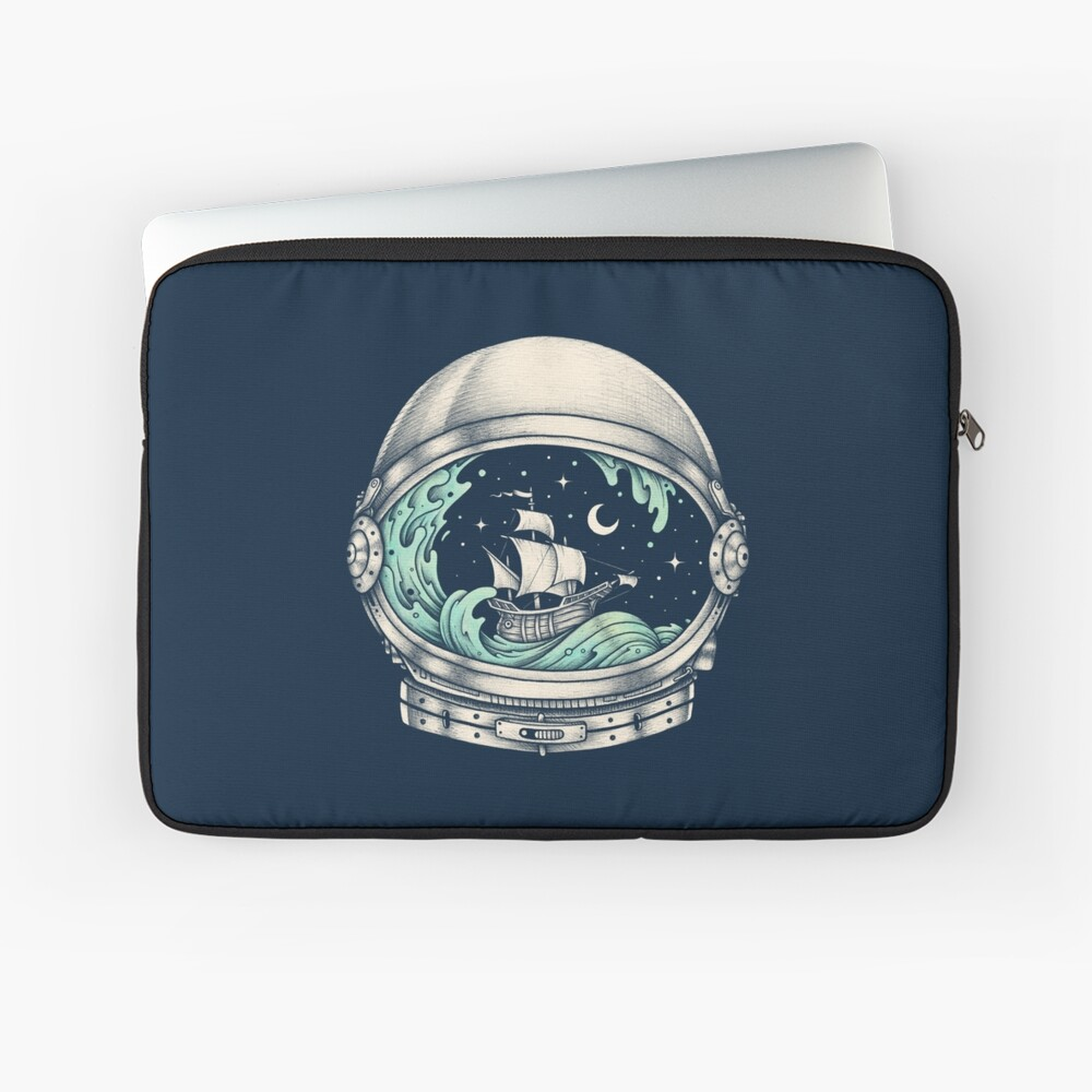 Spaceship Laptop Sleeve Front
