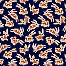 Hot Cross Bunnies - Navy by makemerriness