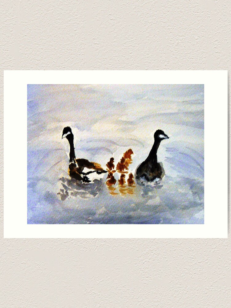 Alternate view of At the Pond Art Print