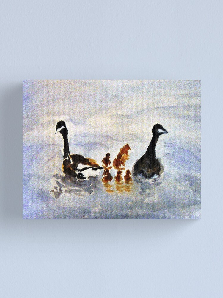 Alternate view of At the Pond Canvas Print