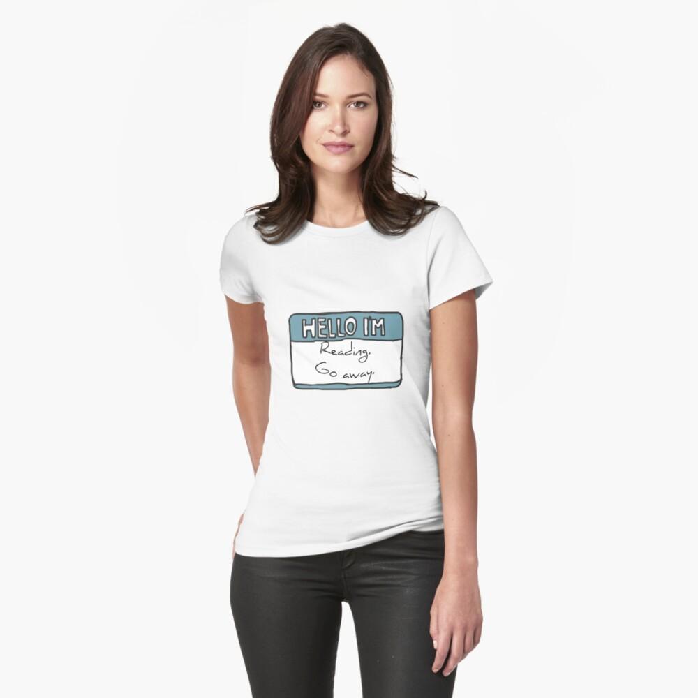 Hello I'm Reading Womens T-Shirt Front