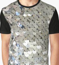Sparkly Silver Sequins Graphic T-Shirt