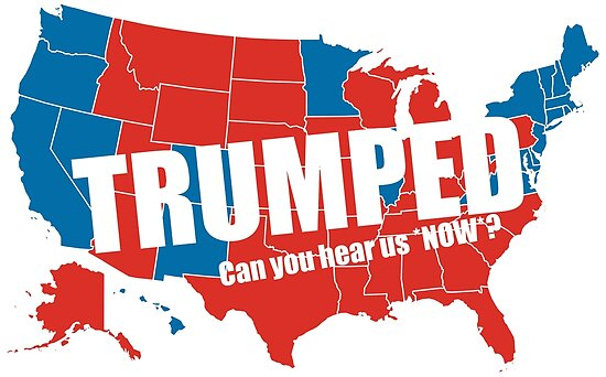 Trumped 2016 Elections USA Electoral Map Vote #MAGA Make America ...