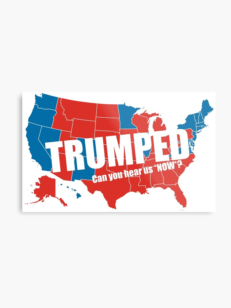 Trumped 2016 Elections USA Electoral Map Vote #MAGA Make America Great  Again HD HIGH QUALITY ONLINE STORE | Metal Print
