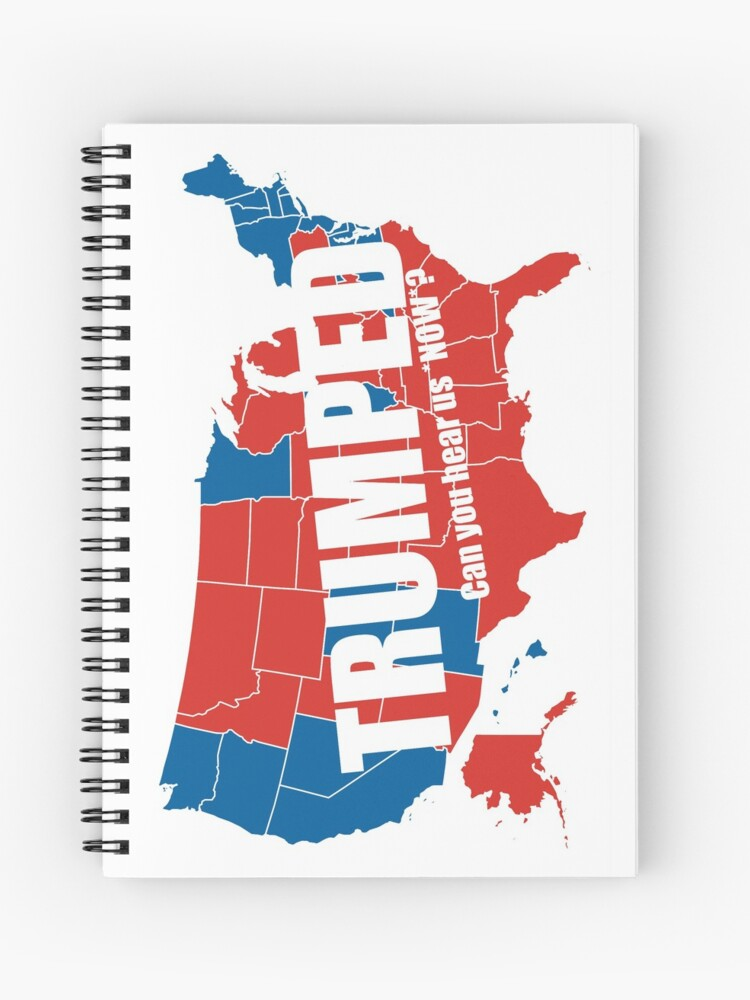 Map Of America Voting.Trumped 2016 Elections Usa Electoral Map Vote Maga Make America Great Again Hd High Quality Online Store Spiral Notebook