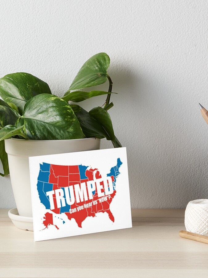 Trumped 2016 Elections USA Electoral Map Vote #MAGA Make America Great  Again HD HIGH QUALITY ONLINE STORE | Art Board Print