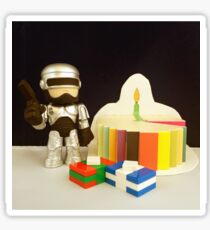 Robocop Birthday Sticker