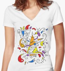 Artistic t-shirt Women's Fitted V-Neck T-Shirt