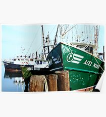A Salty Dog /    Working fishing boats   Poster