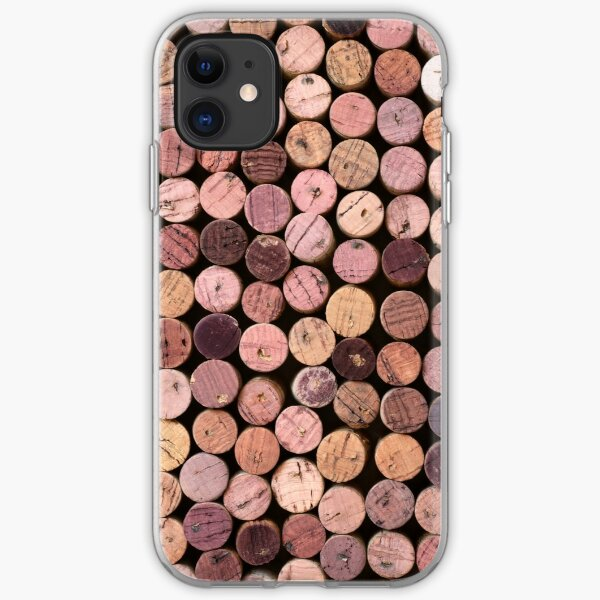Red Wine Cork Pattern iPhone Soft Case