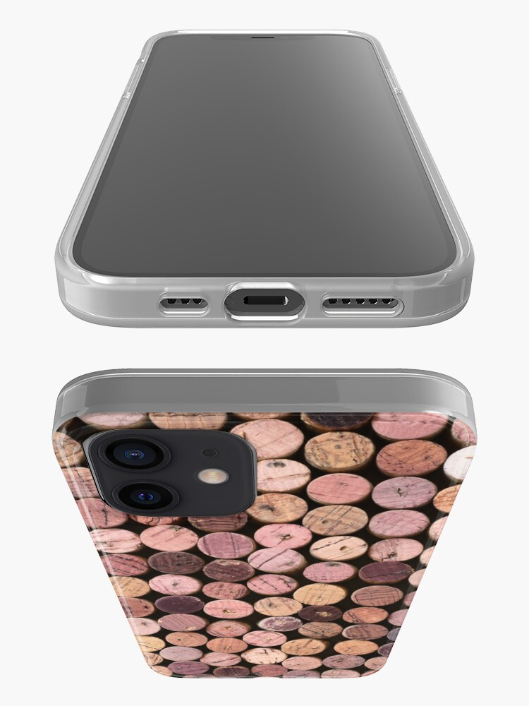 Alternate view of Red Wine Cork Pattern iPhone Case & Cover