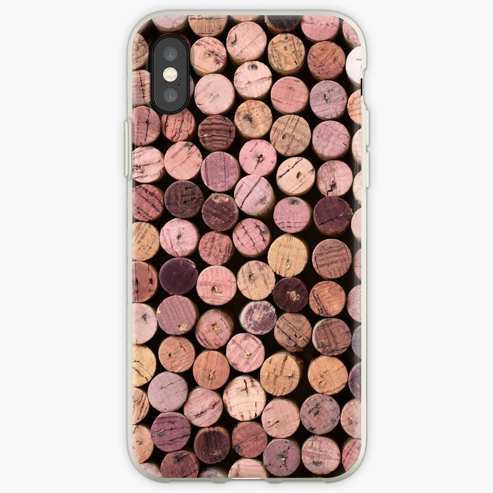 Red Wine Cork Pattern iPhone Case & Cover