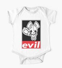 Evil Grumpy Voodoo Bunny / Cute Bigfoot Monsters One Piece - Short Sleeve