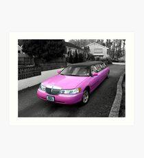 pink limo ... Art Print