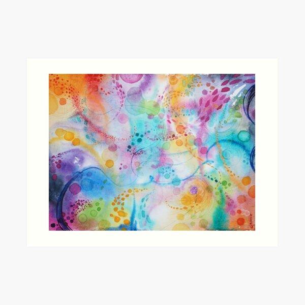 Meditation and elevated emotions Art Print