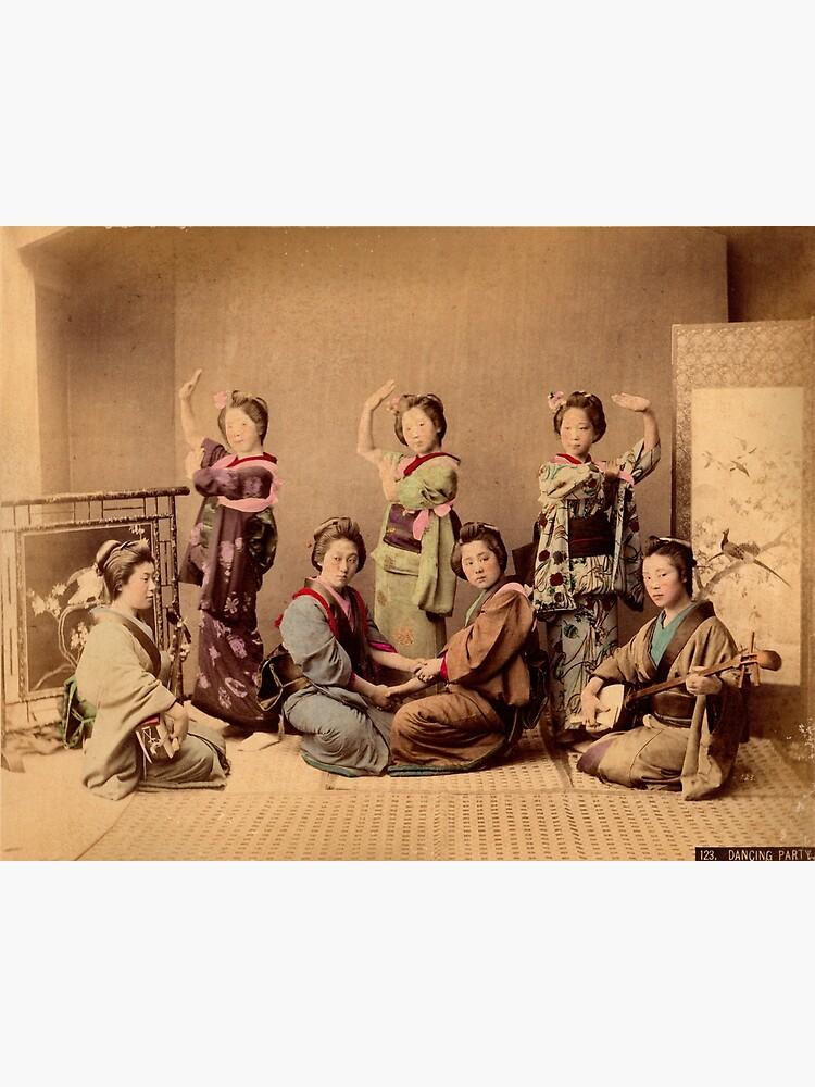Geisha dancing party by Fletchsan