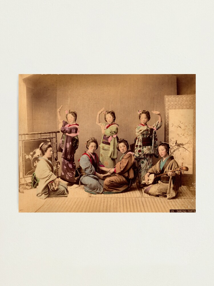 Alternate view of Geisha dancing party Photographic Print