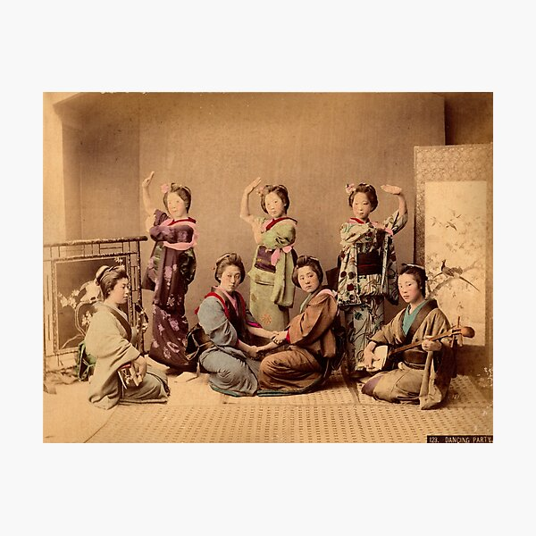 Geisha dancing party Photographic Print
