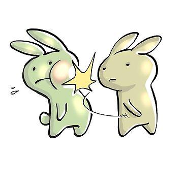Funny Anime Baka Rabbit Slap T-Shirt - Baka Japanese by noirty