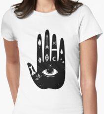 Magische Hand Tailliertes T-Shirt für Frauen
