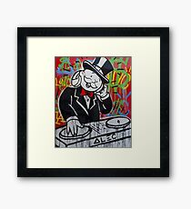 DJ Rich Uncle Pennybags Framed Print