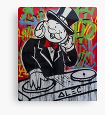 DJ Rich Uncle Pennybags Canvas Print