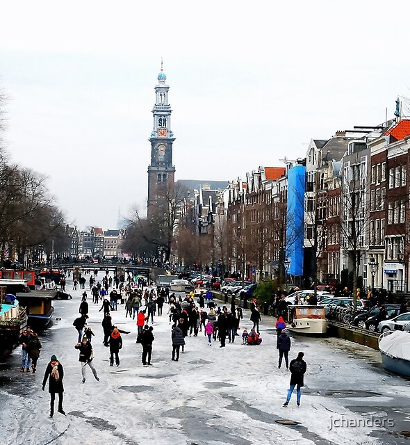 Amsterdam on ice by jchanders