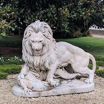 Dolmabahçe palace lion statue by ersindesign