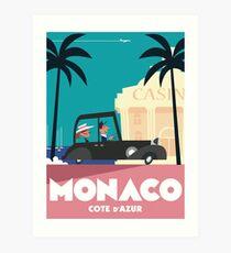 Monaco Travel poster Art Print
