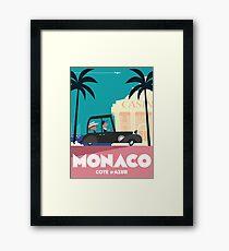 Monaco Travel poster Framed Print