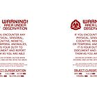 SCP Foundation Red Warning Sign - White Background by ToadKingStudios