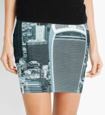 London City scape with a blue hue Mini Skirt
